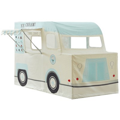 Asweets 10104005 Indoor 59 x 32 x 40 Inch Childrens Kids Cotton Fabric Ice Cream Truck Pretend Play House Tent for Toddlers Ages 3 Years Old and Older