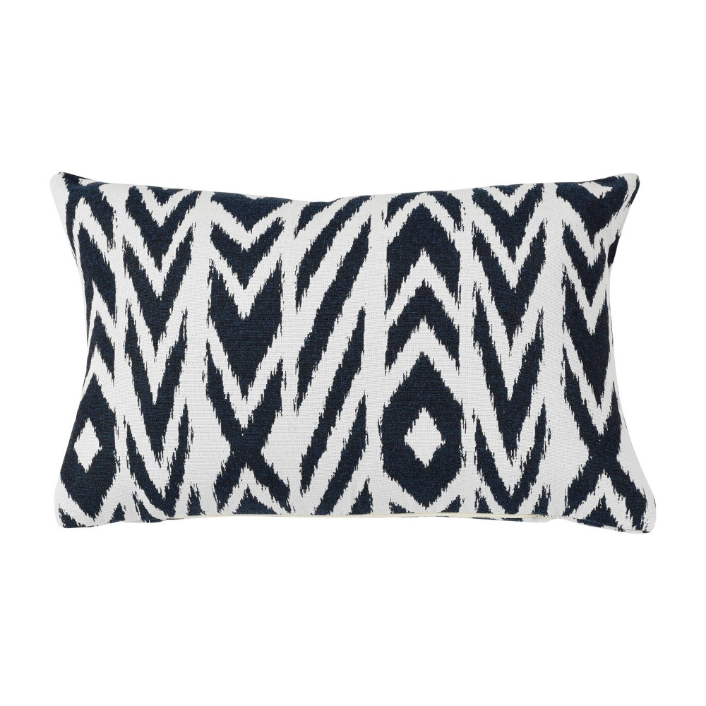 "Image of ""Pacifica Lumbar Throw Pillow Fire Island Might - Astella, Size: 12""""x18"""", Red Blue Might"""