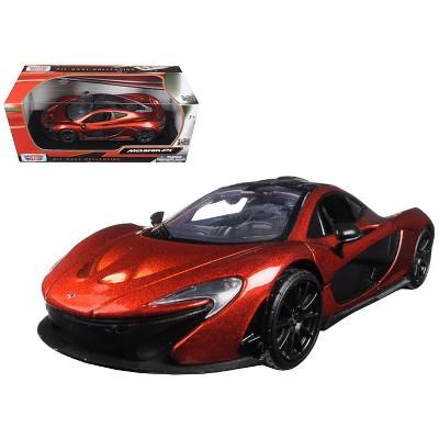 McLaren P1 Orange Metallic 1/24 Diecast Model Car by Motormax