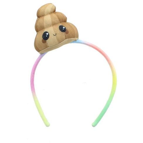 Se7en20 Glitter Galaxy Plush Brown Poop Emoji Child Costume Headband - image 1 of 2