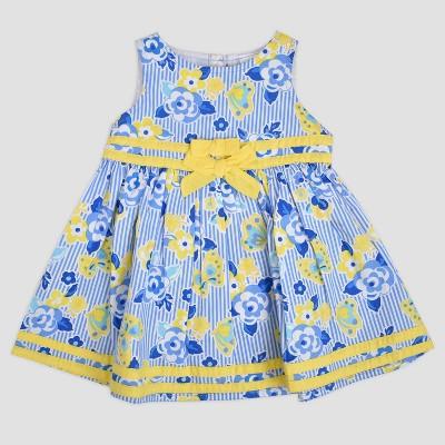 Baby Girls' Flowers Sundress Blue/Yellow 12m