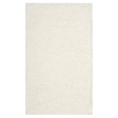 White Solid Loomed Area Rug - (4'X6')- Safavieh®