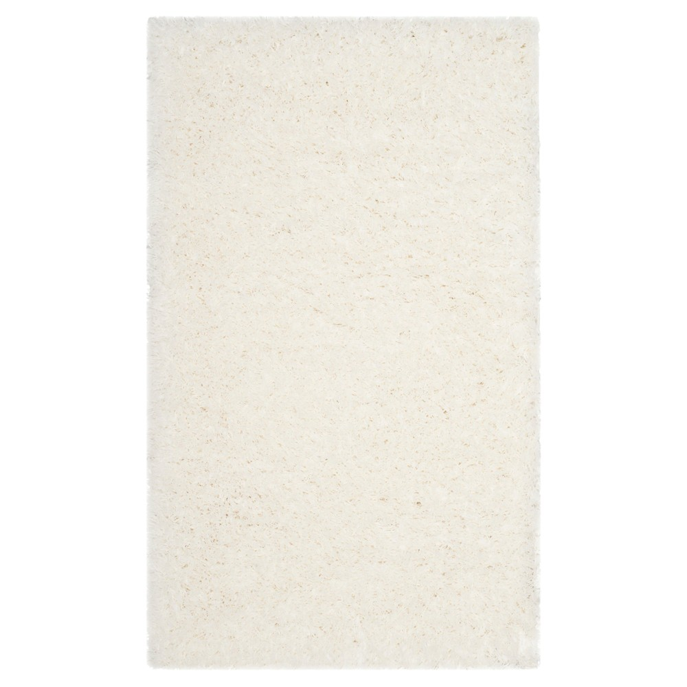 White Solid Loomed Area Rug - (4'X6') - Safavieh
