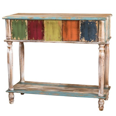 Perfect Everest Console Table Green/Red/Yellow   Christopher Knight Home