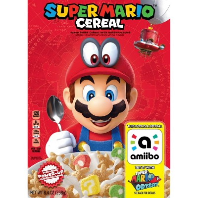 Super Mario Breakfast Cereal - 8.4oz - Kelloggs