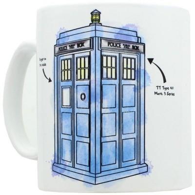 Nerd Block Doctor Who Watercolor TARDIS Mug