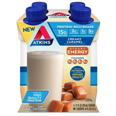 Atkins Ready to Drink Energy Shake - Creamy Caramel - 4pk