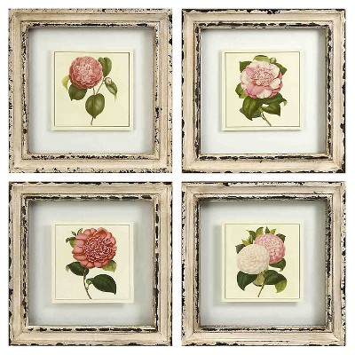 Aurora Decorative Wall Art Set - Cream (11 X 11.5 X 4.5 )