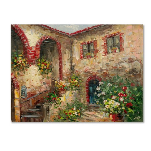 "Trademark Fine Art 18"" x 24"" Rio 'Tuscany Courtyard' Canvas Art - image 1 of 3"