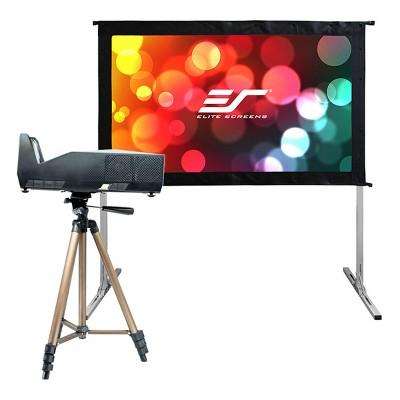 "Elite Screens Movie Night Bundle Yard Master 2 58"" Outdoor Projector Screen with MosicGO Lite Ultra Short Throw Projector"