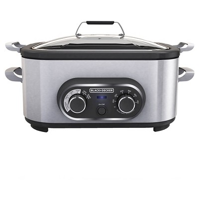 BLACK+DECKER 6.5qt Multi Cooker - Stainless Steel MC1100S