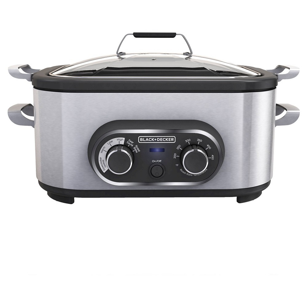 Image of BLACK+DECKER 6.5qt Multi Cooker - Stainless Steel MC1100S, Silver Black
