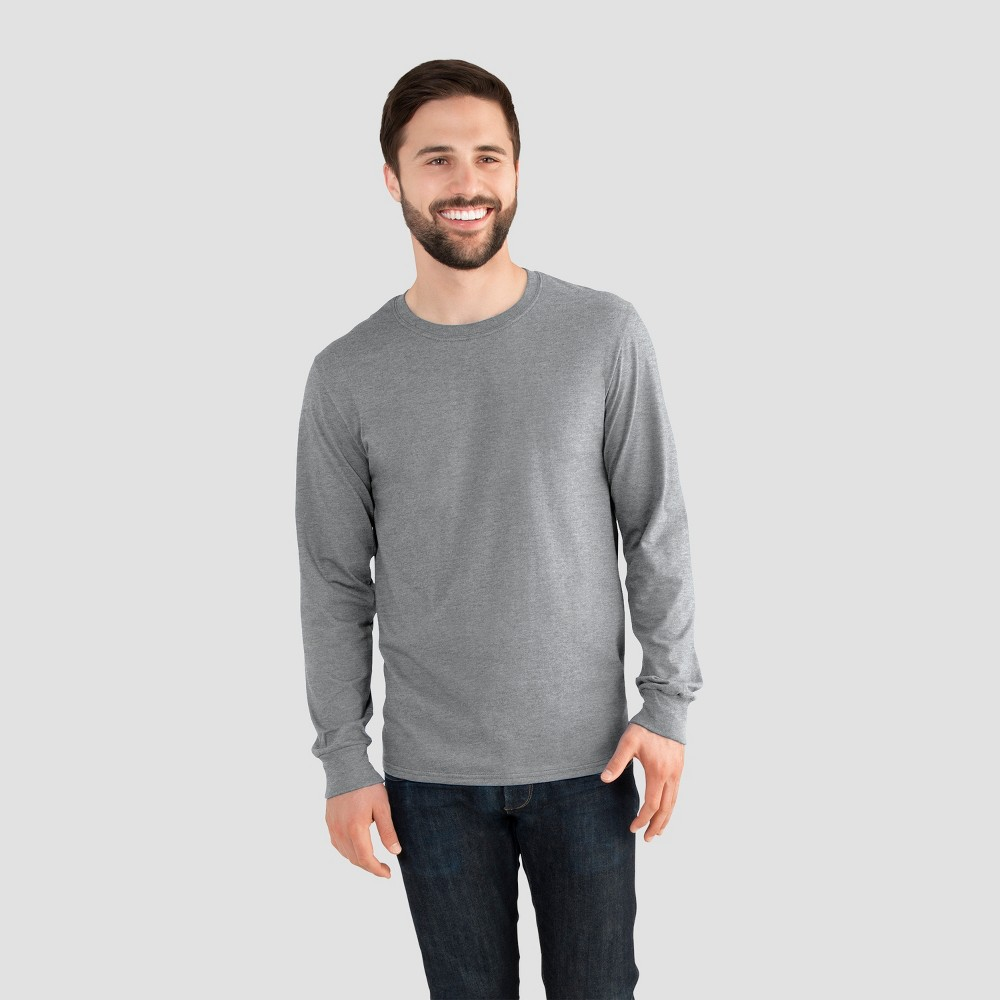 Fruit of the Loom Men's Long Sleeve T-Shirt - Athletic Heather 2XL