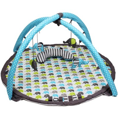 Bacati - Baby Activity Gyms & Playmats (Elephants Aqua/Lime/Grey)