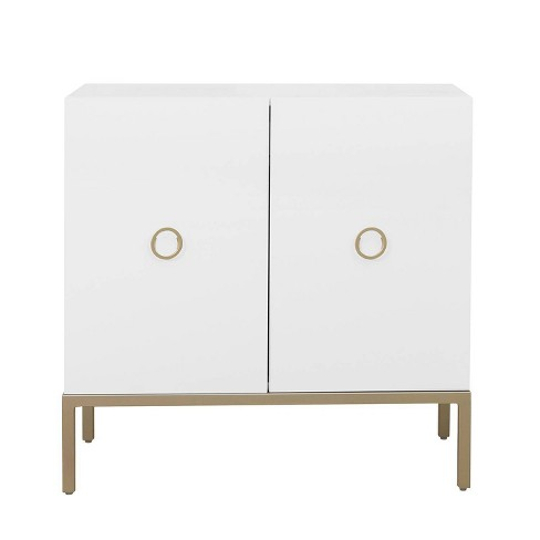 Two Door Accent Cabinet White - Pulaski - image 1 of 6