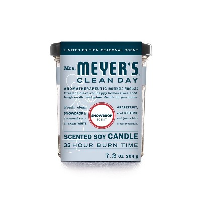 Mrs. Meyer's Clean Day Snow Drop Large Jar Candle - 7.2oz