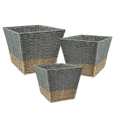 Honey-Can-Do 3pc Nested Square Baskets