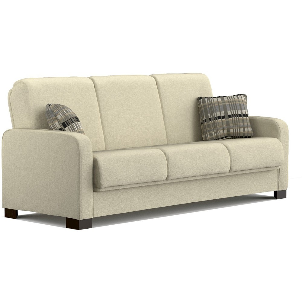 Thora Convert-a-Couch - Ivory Chenille - Handy Living, Ivory Cumin