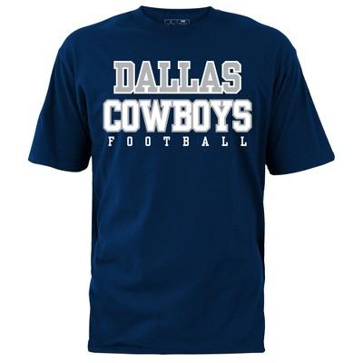 huge discount 43ab5 9db38 Dallas Cowboys Men's Navy Dallas Cowboys Big & Tall T-Shirt 4XL