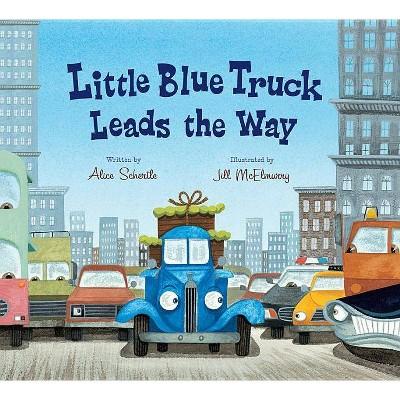 Little Blue Truck Leads the Way (Lap Board Book)- by Alice Schertle (Board_book)
