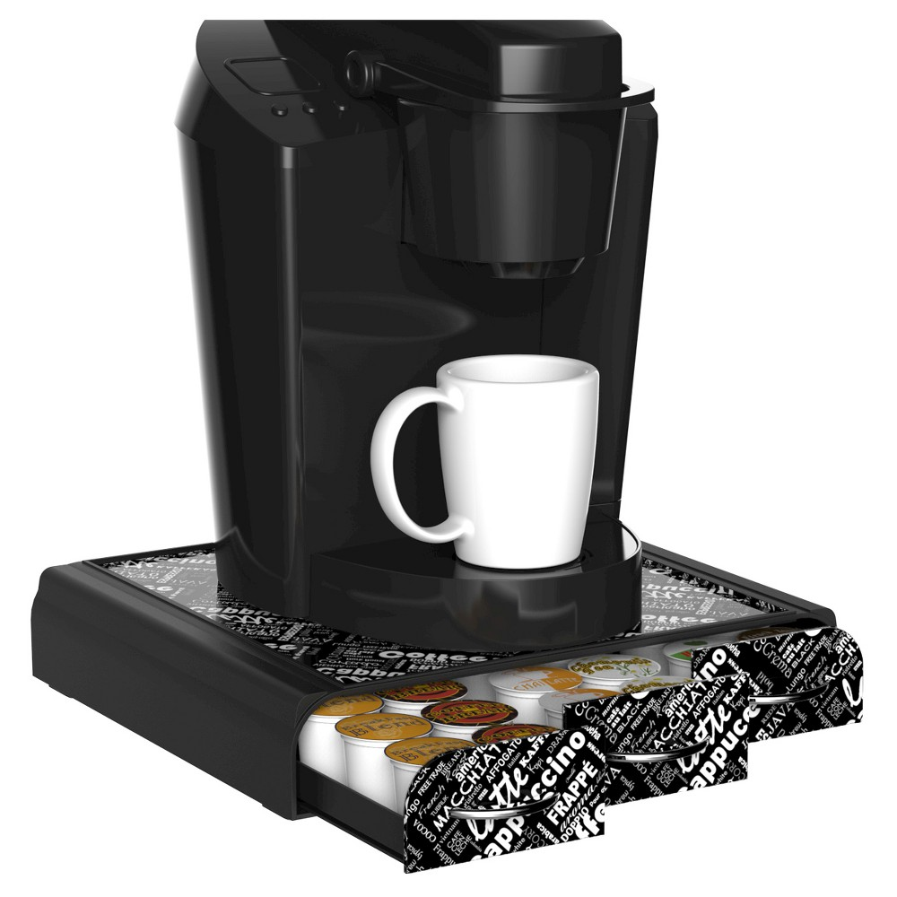 Image of Mind Reader Anchor Coffee Pod Triple Drawer - Black Print