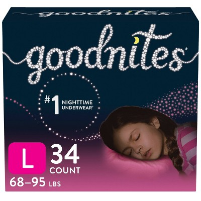 GoodNites Girls' Nighttime Bedwetting Underwear - (Select Size and Count)
