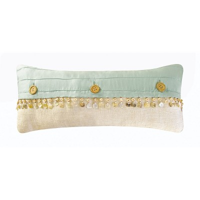 """C&F Home 8"""" x 10"""" Button Button Embellished Pillow"""