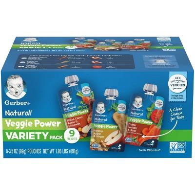 Gerber Veggie Power Variety Baby Snacks - 1.97oz/9pk Each