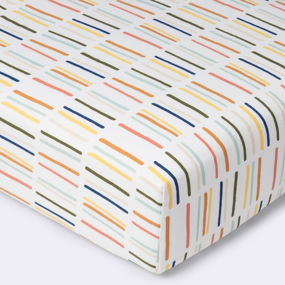 Fitted Crib Sheet Dashes Cloud Island 8482