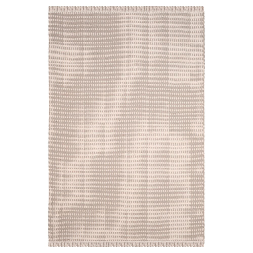 Ivory/Gray Stripe Flatweave Woven Area Rug 6'X9' - Safavieh
