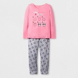 5505fa209 Girls  2pc Long Sleeve Unicorn Graphic Cozy Pajama Set - Cat   Jack ...
