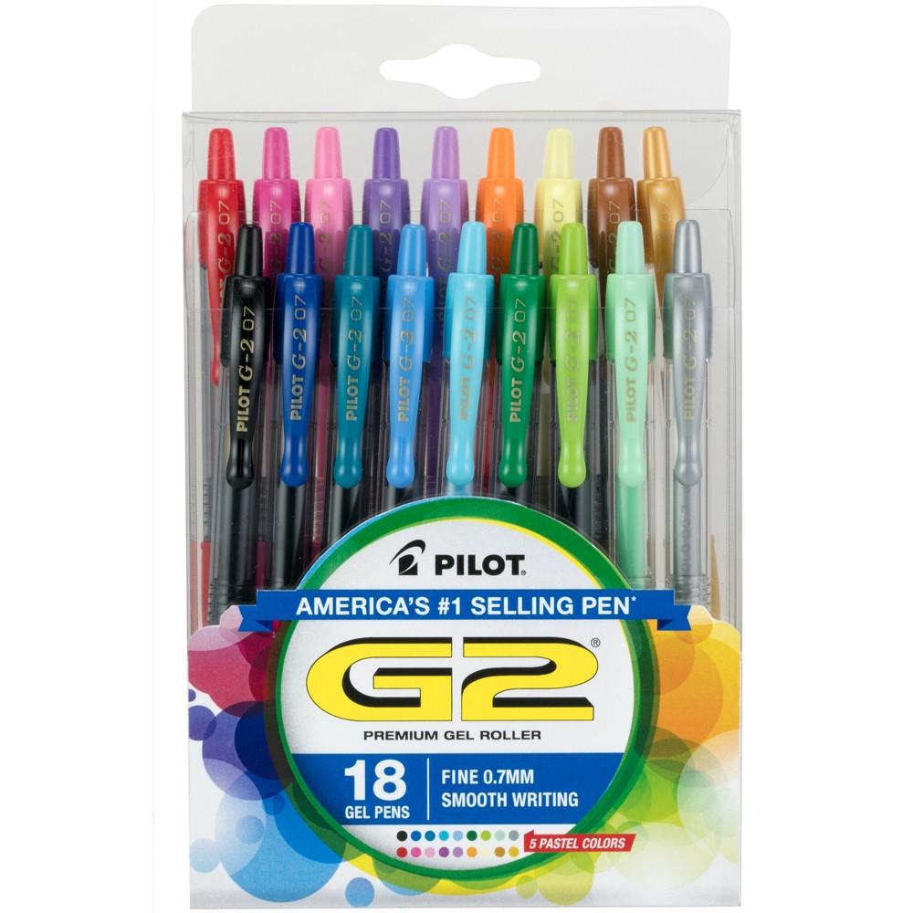 Image of Pilot 18ct G2 Premium Retractable Gel Ink Pens Fine Point 0.7mm
