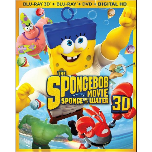 The SpongeBob Movie: Sponge out of Water [3 Discs] [Includes Digital Copy] [3D/2D] [Blu-ray/DVD] - image 1 of 1