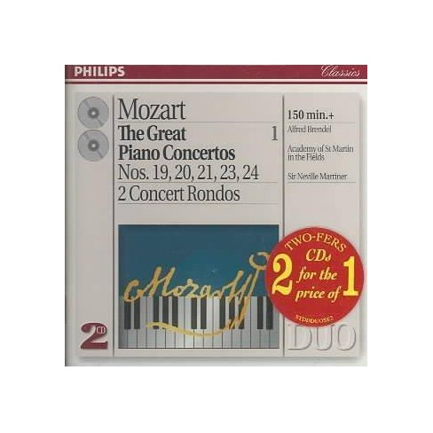 Brendel & Marriner & Academy of St. Martins in the Field - Mozart: Great Piano Concertos Vol. 1 (CD) - image 1 of 1