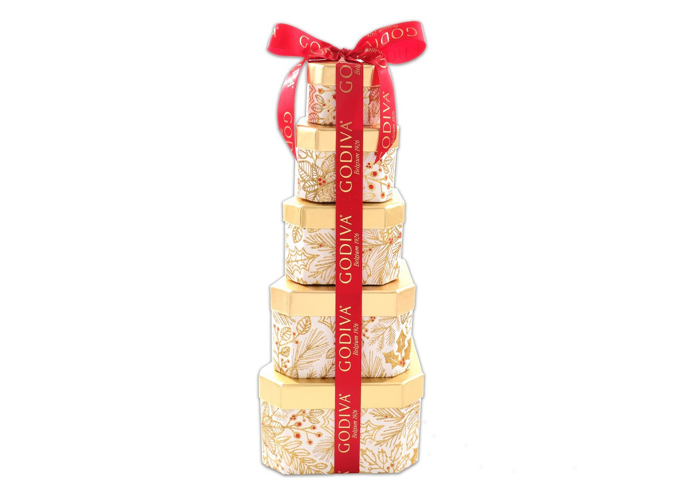 Alder Creek Gifts Godiva Christmas Tower Gift Basket - 3lb - image 1 of 1