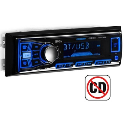 Boss Audio Systems 611UAB Single Din USB/SD AUX Bluetooth Multimedia Radio Car Stereo Receiver with USB, AUX Input, and AM/FM Radio Receiver