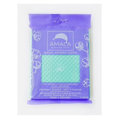 Amala Highly Absorbent Magic Sponge Cloth - 3pk
