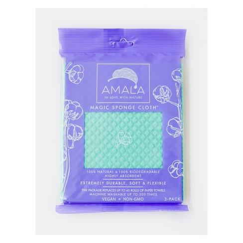 Amala Highly Absorbent Magic Sponge Cloth - 3pk - image 1 of 4
