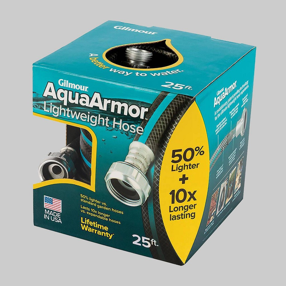 Image of Gilmour 25' AquaArmor Lightweight Hose Blue