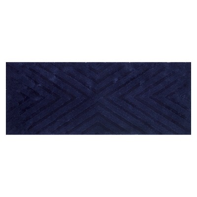 Textured Stripe Bath Rug Runner (23 X58 )Mood Ring Blue - Project 62™ + Nate Berkus™
