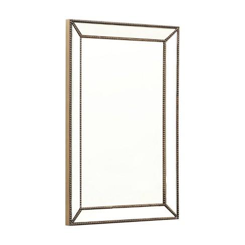 Adora Rectangle Decorative Wall Mirror Gold - Abbyson Living - image 1 of 4