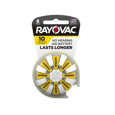 Rayovac Size 10 Hearing Aid Battery 8pk