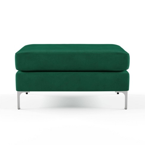 Chapman Velvet Ottoman with Chrome Legs - Novogratz - image 1 of 7