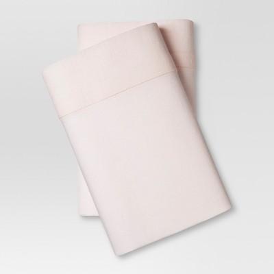 Linen Blend Pillowcase Set (Standard)Belle Pink - Threshold™