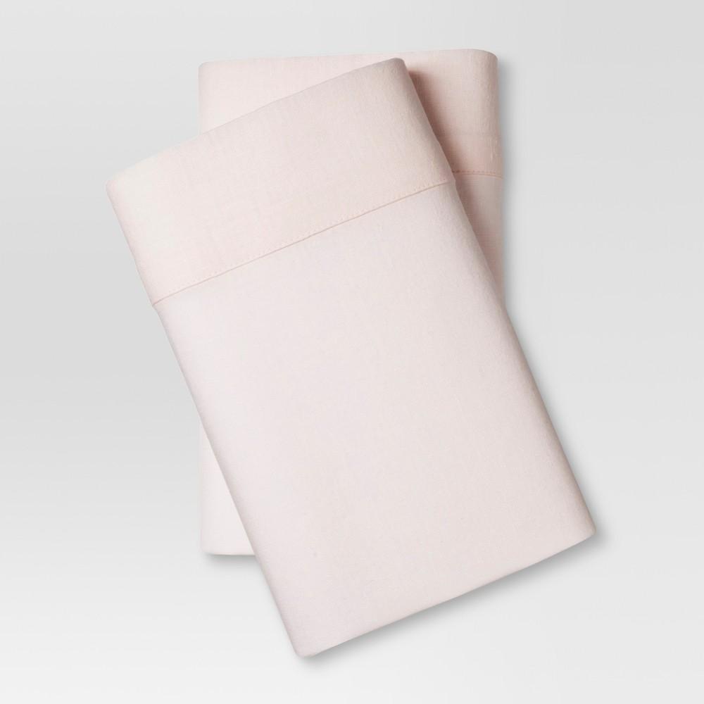 Linen Blend Pillowcase Set (Standard) Belle Pink - Threshold