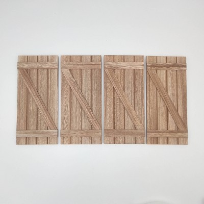 4ct Wood Decorative Door - Bullseye's Playground™