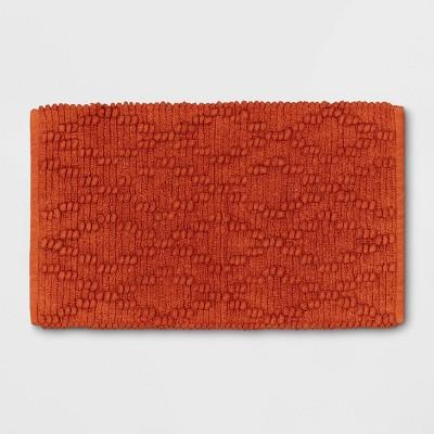 "20""x32"" Chenille Multi Textured Bath Rug Orange - Threshold™"