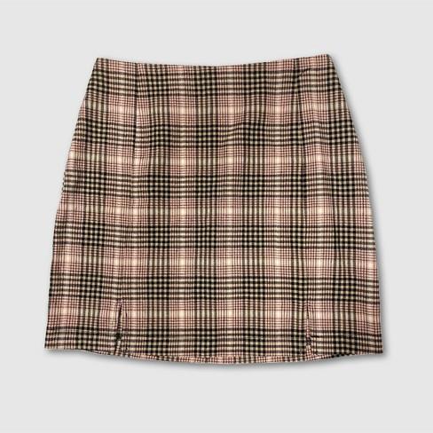 Women's Plaid Double Slit Mini Skirt - Wild Fable™ - image 1 of 2