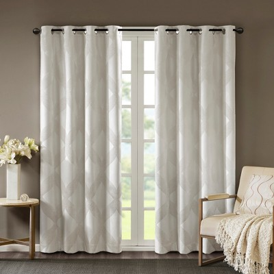 Byron Ogee Knitted Jacquard Blackout Curtain Panel