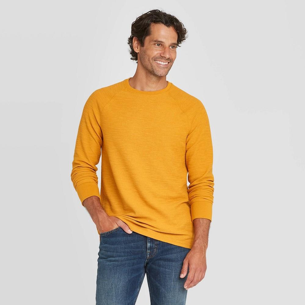 Promos en's Standard Fit Long Sleeve Textured Crew Neck T-Shirt - Goodfellow & Co™